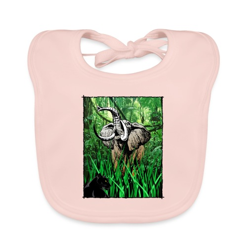 Waldelefant in Afrika - Baby Bio-Lätzchen