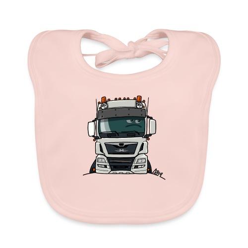 0819 M truck white - Bio-slabbetje voor baby's