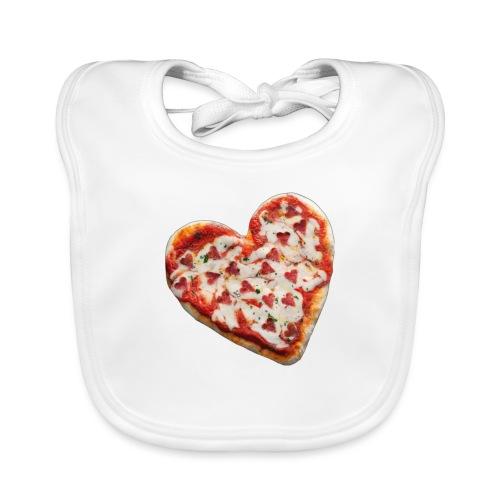 Pizza a cuore - Bavaglino ecologico per neonato