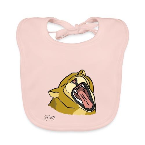 Gähnender / brüllender Löwe - Baby Bio-Lätzchen