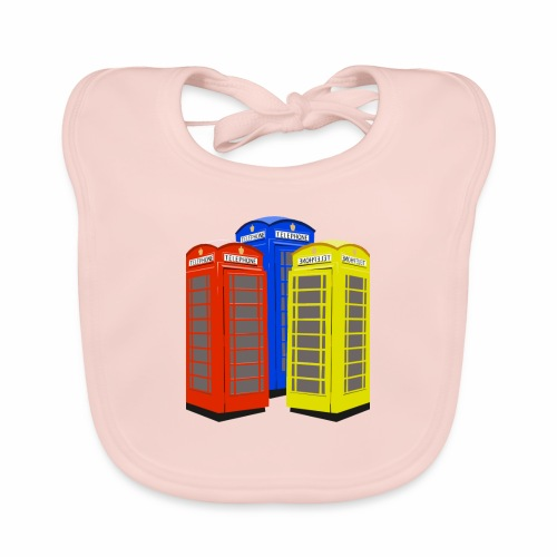 London Phoneboxes - Baby Organic Bib