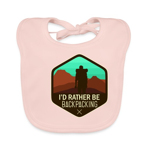 I'd Rather Be Backpacking - Baby Bio-Lätzchen