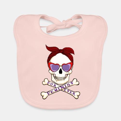 Feminist skull - Babero ecológico bebé