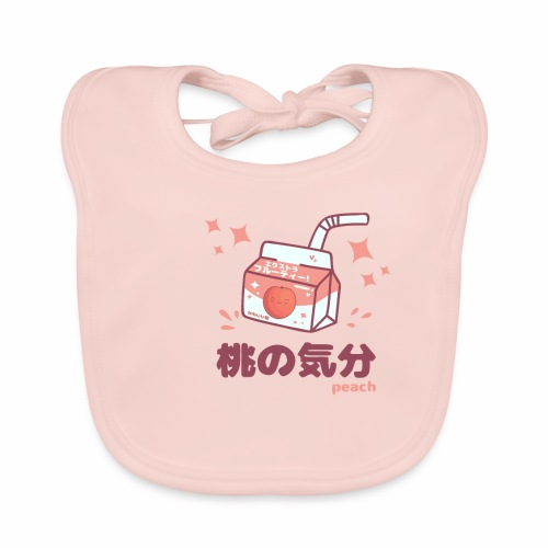 Kawaii Peach Mood Shirt - Baby Bio-Lätzchen