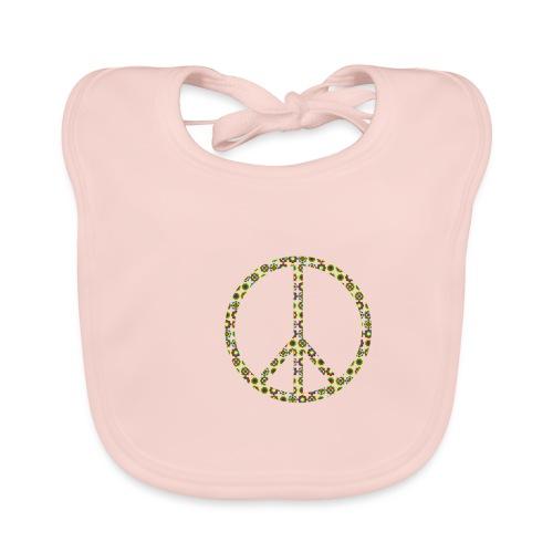 Peace Peacezeichen Frieden 70er Jahre Flowerpower - Baby Bio-Lätzchen