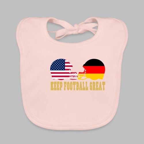 Keep Football Great Football helme USA Deutschland - Baby Bio-Lätzchen