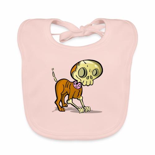 perro zombie - Babero de algodón orgánico para bebés