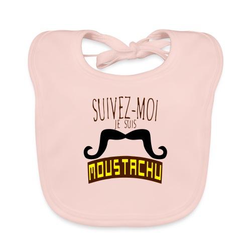 citation moustache suivez moi moustachu - Bavoir bio Bébé