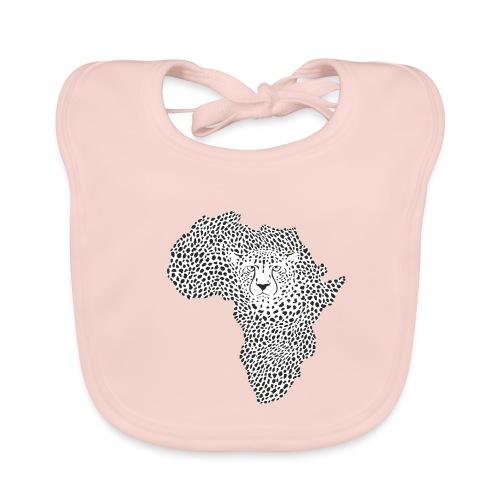 Symbol Africa in cheetah camouflage - Baby Bio-Lätzchen