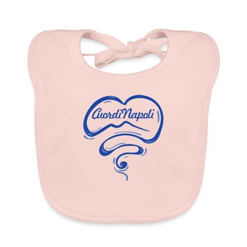 New Logo CuordiNapoli Blu - Bavaglino ecologico per neonato