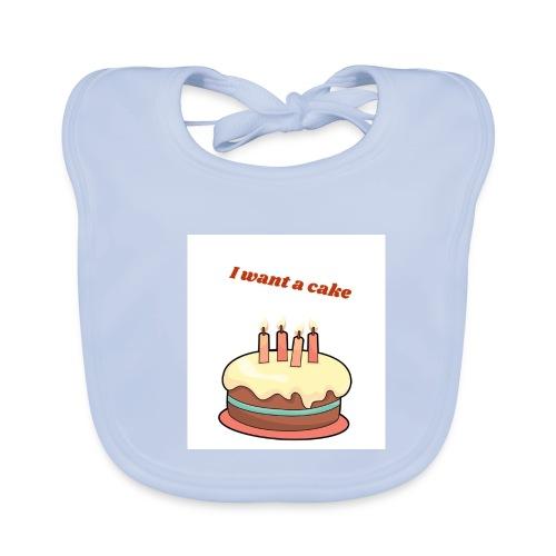 I want a cake - Ekologisk babyhaklapp