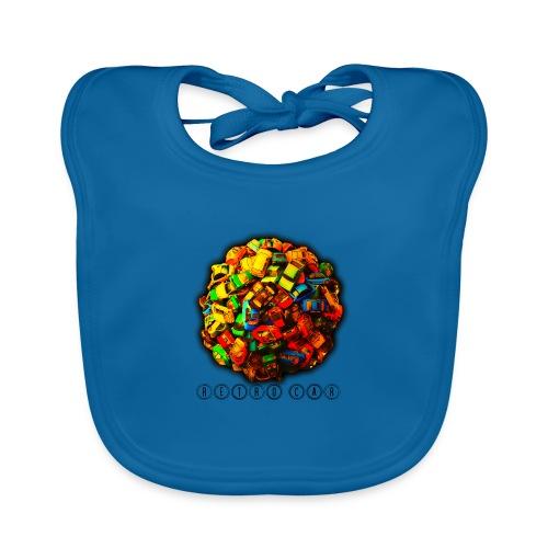 autos retro - Babero de algodón orgánico para bebés