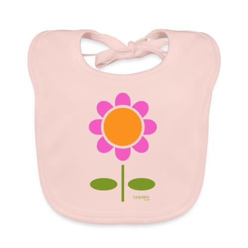 Retro flower - Vauvan luomuruokalappu