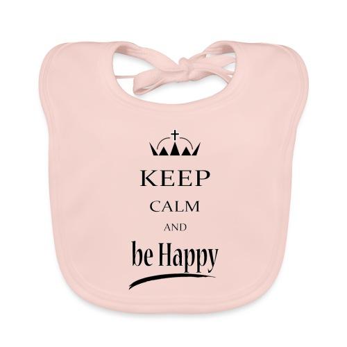 keep_calm and_be_happy-01 - Bavaglino ecologico per neonato