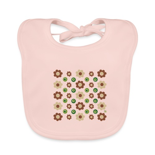 flowers and olives - Baby Bio-Lätzchen