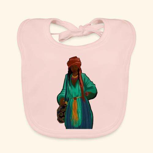 Femme avec sac motif - Bavoir bio Bébé