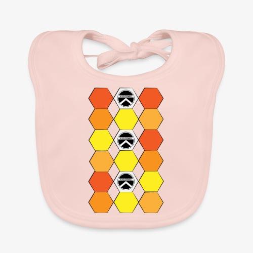 |K·CLOTHES| HEXAGON ESSENCE ORANGES & YELLOW - Babero de algodón orgánico para bebés