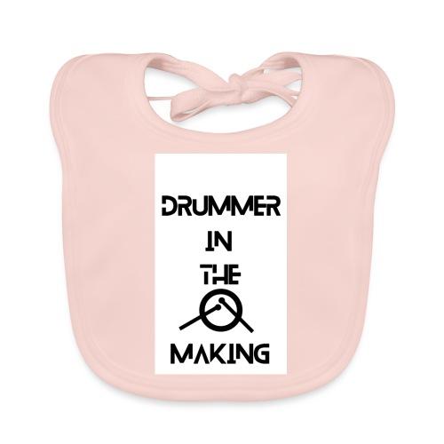 Drummer in the making white - Hagesmække af økologisk bomuld