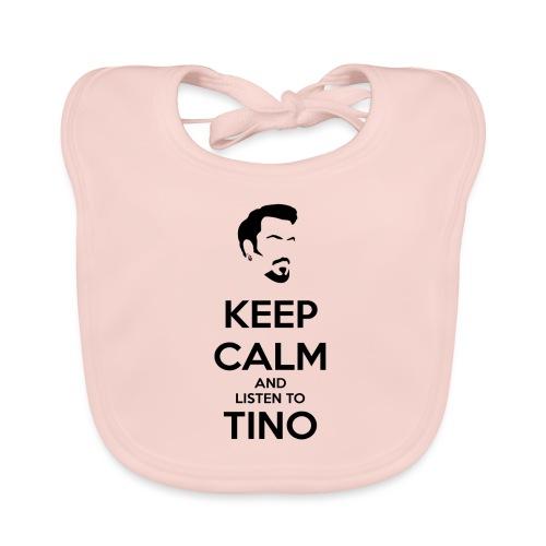 Keep Calm Tino - Babero de algodón orgánico para bebés