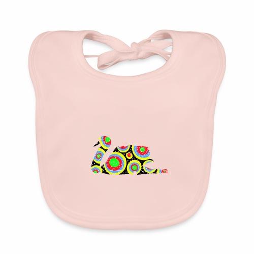 Bunter Schwan mit vielen tollen Farben - Baby Bio-Lätzchen