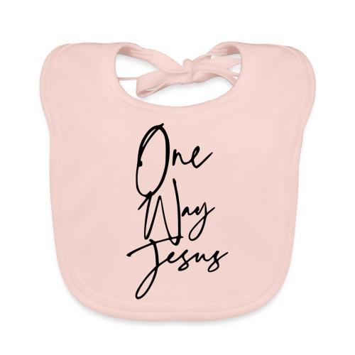 one way jesus - Babero de algodón orgánico para bebés