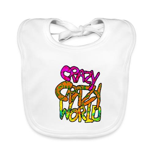 kleurige crazy crazy world - Bio-slabbetje voor baby's