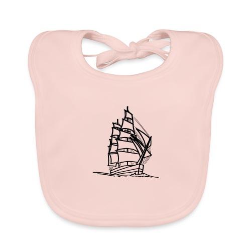 Segelschiff Illustration Meer Schiff Bootsfahrt - Baby Bio-Lätzchen