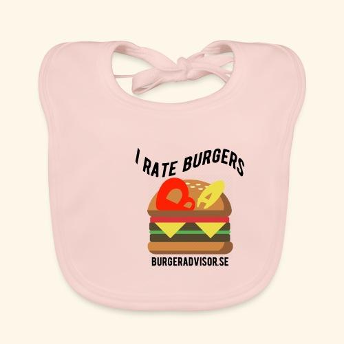 I Rate Burgers logo dark - Baby Organic Bib