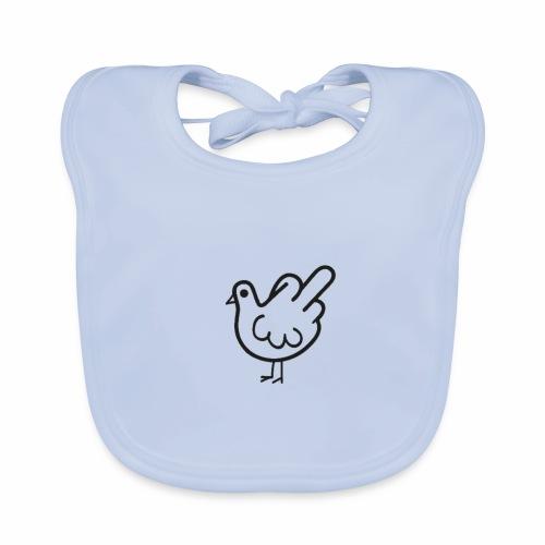 Huhn mit Mittelfinger - Baby Bio-Lätzchen