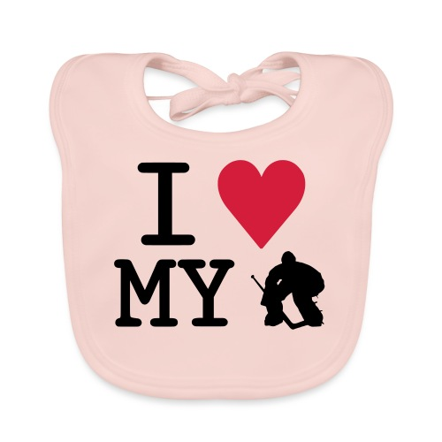 I Love My Hockey Goalie - Organic Baby Bibs