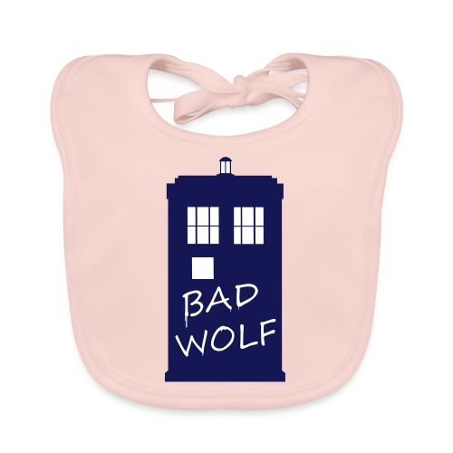 Bad Wolf Tardis - Bavoir bio Bébé