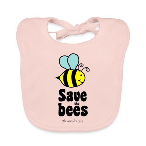 Bees9-1 save the bees | Bienen Blumen Schützen - Baby Organic Bib