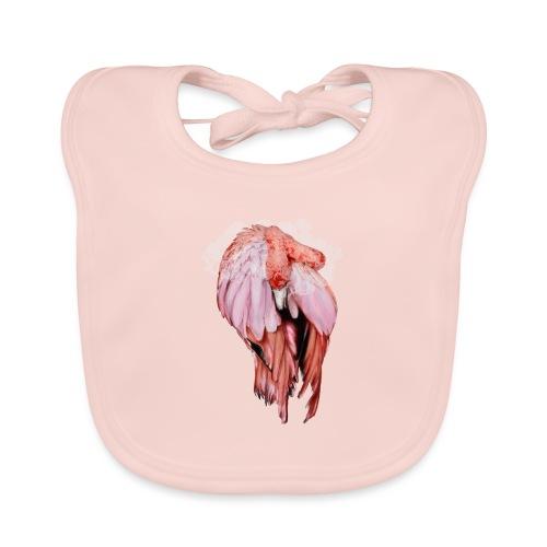 Fenicottero rosa - Bavaglino ecologico per neonato