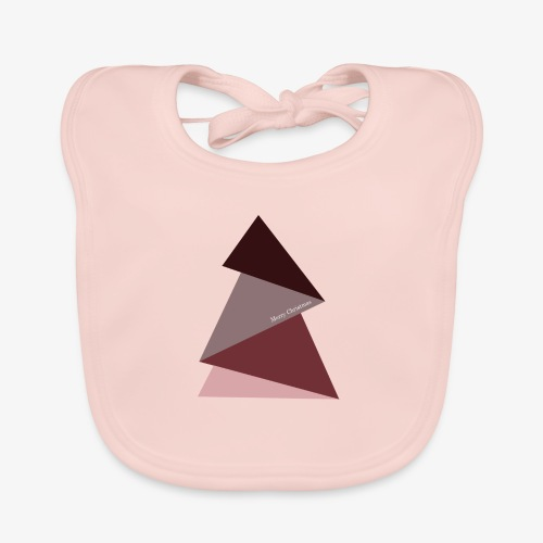 fir triangles 2 - Baby Organic Bib