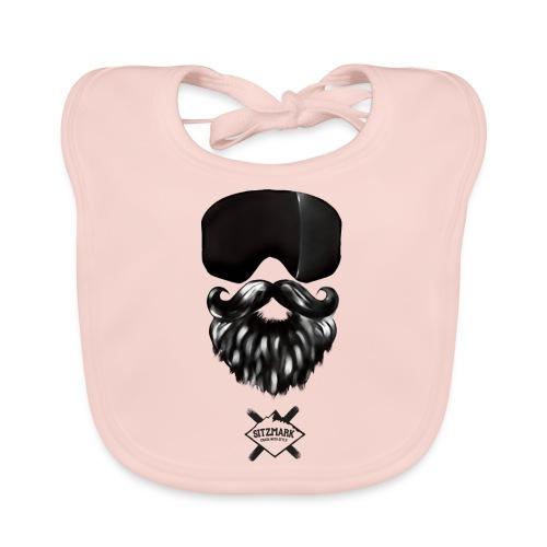 Beard mask - Babero de algodón orgánico para bebés