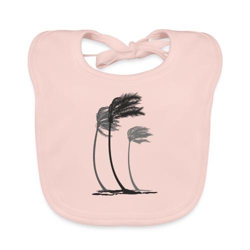 Palms in the wind - Baby Bio-Lätzchen