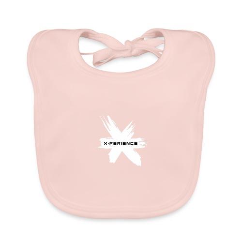 x-perience Logo weiß - Baby Bio-Lätzchen