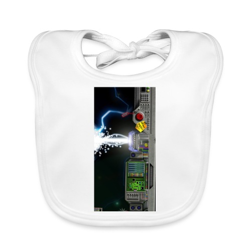 Hyperspace potato electronics phonecase - Baby Organic Bib