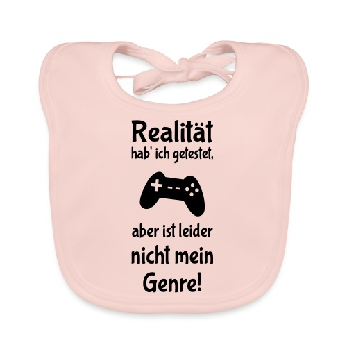 Coole Gamer Nerd Sprüche Zocken Realität - Baby Bio-Lätzchen