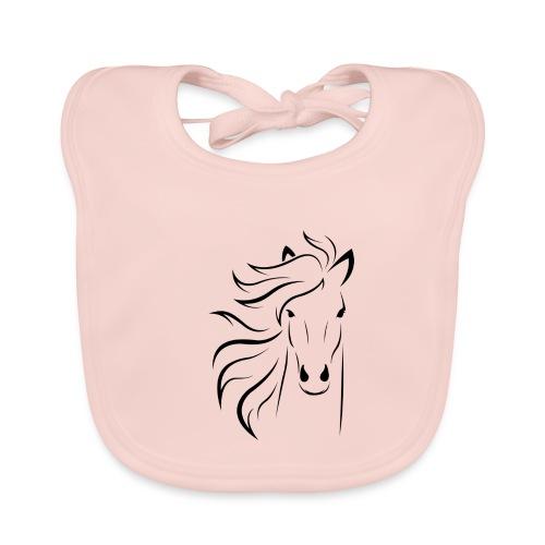 cheval - Bavoir bio Bébé