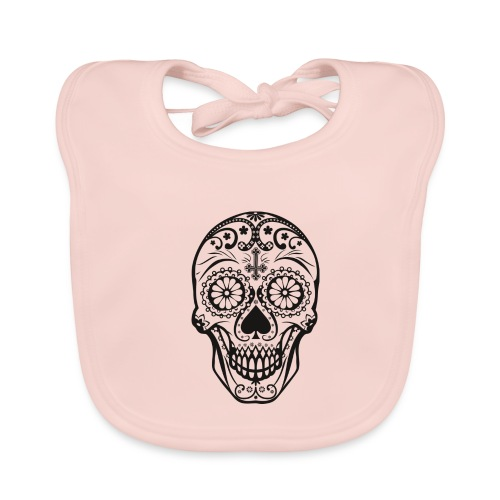 Skull black - Baby Bio-Lätzchen