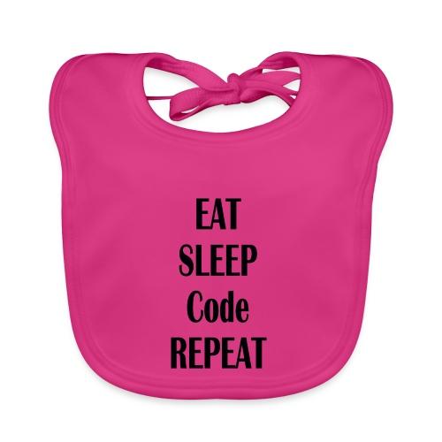 EAT SLEEP CODE REPEAT - Baby Bio-Lätzchen