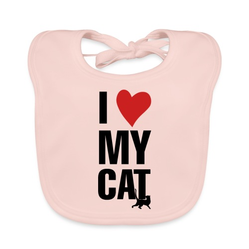 I_LOVE_MY_CAT-png - Babero ecológico bebé