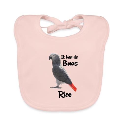 IK BEN DE BAAS RICO - Bio-slabbetje voor baby's