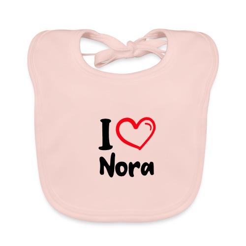I LOVE NORA - Bio-slabbetje voor baby's