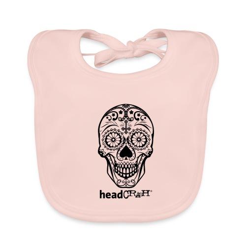 Skull & Logo black - Baby Bio-Lätzchen