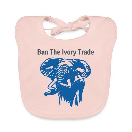 ELEFANT I Ban The Ivory Trade - Baby Bio-Lätzchen