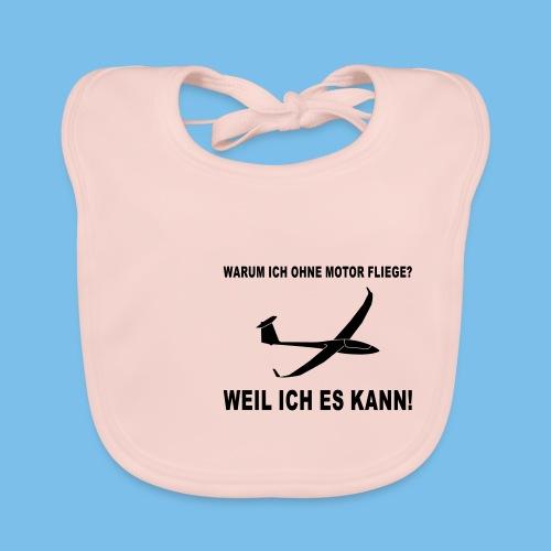 Lustiger Spruch für Segelflieger Geschenkidee - Baby Bio-Lätzchen