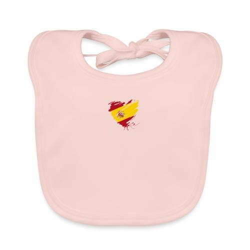 corazon español - Babero de algodón orgánico para bebés