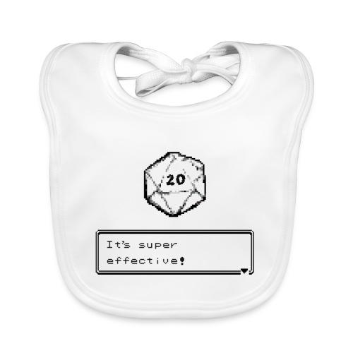 Kriittinen osuma d20 Super Effective! - D & D Dnd - Vauvan luomuruokalappu
